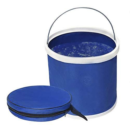 - Collapsible Bucket with Lid --- Aquarium Water Change Pail - Outdoor water storage container for Camping, Hiking, Gardening - Space-Saving Packable pail for Car, RV, Fishing, Fruit Picking & More