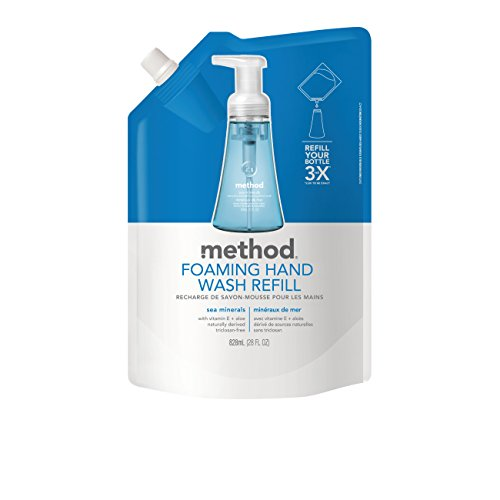 - Method Naturally Derived Foaming Hand Wash Refill, Sea Minerals, 28 Ounce