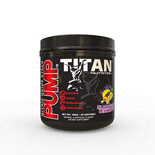 (Pump- Stimulant Free Nitric Oxide Boosting Stack, with Citruline Malate for Maximum Pump, Vascularity and Improved Circulation with Brain Complex for Increased Focus (BlackBerry Lemonade))