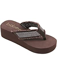 Women's Fashion Platform Wedge Thong Flip Flops Sandals