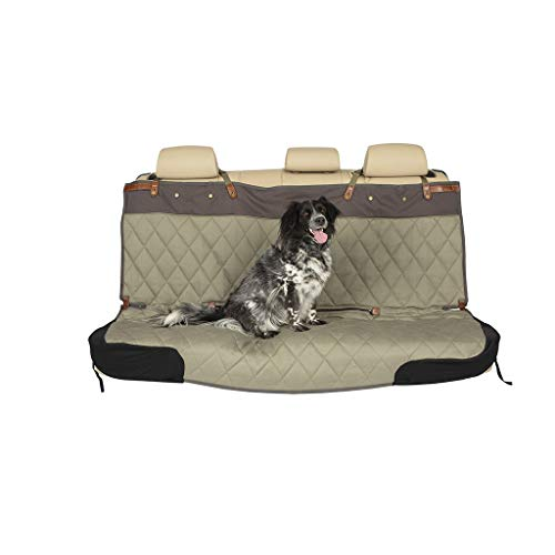 PetSafe Happy Ride Quilted Bench Seat Cover - Fits Cars, Trucks, Minivans and SUVs - Padded Cotton Fabric - Durable Vehicle Seat Protector - Green