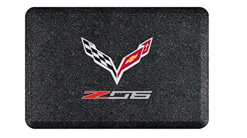 C7 Z06 Corvette Smart Step Garage Floor Mat w/Crossed Flags Logo : 32