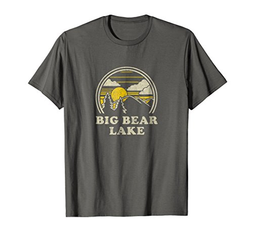 Big Bear Lake California CA T Shirt Vintage Hiking Mountains