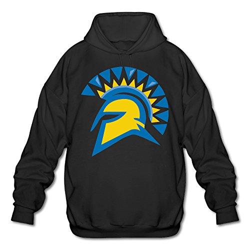 AUSIN Men's San Jose State University Hoodies Black Size - Sweatshirt Mom Soccer Super