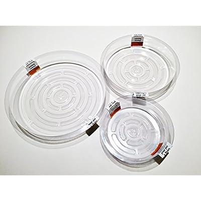 Plant Pot Saucers Clear Plastic Indoor Outdoor Garden Assorted Sizes 13-pc Set : Garden & Outdoor