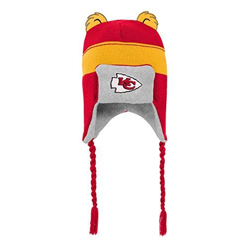 Outerstuff NFL Kansas City Chiefs Kids Ears Trooper Hat Red, Kids One Size -