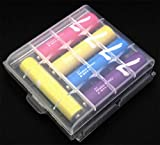 LingSY Clear Color 6 PCS of AA/AAA 4 Cell Battery