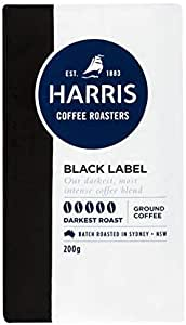 Harris Black Label Ground Coffee - Roasted in Sydney (200g x 6 Packs)