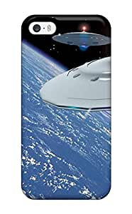 Tpu Case Cover For Iphone 5/5s Strong Protect Case - Ufos In Space Design