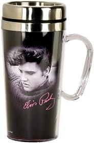 Spoontiques - Insulated Travel Mug - Elvis Presley Coffee Cup - Coffee Lovers Gift - Funny Coffee Mug - 15 oz