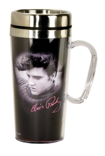 Elvis Presley Insulated Travel Mug, Black (Mug Presley Elvis)