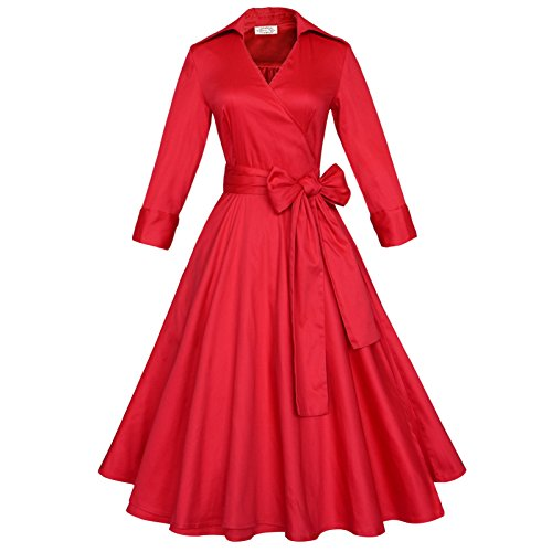 fashion dress red - 6