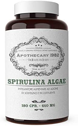 Dul c – Apothecary 1982 – Spirulina Algae – 180 Capsules – Tonic and Anti-inflammatory – 500 mg