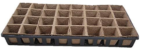 Jiffy Peat Pots / Web flats - 5 Carry Trays, 20-8 Cell Growing Peat Strips - 160 planting cells