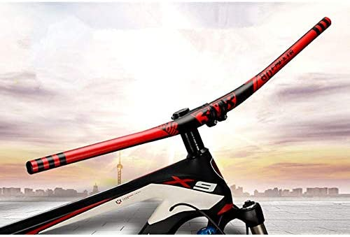 自転車のハンドルバー 自転車のハンドルバーアルミ合金ライザーハンドルバー用マウンテンバイクロードバイク長距離マウンテンバイクレーシングトリップリラックスして休憩 広く使われています (色 : 赤, Size : 31.8mm 780mm)