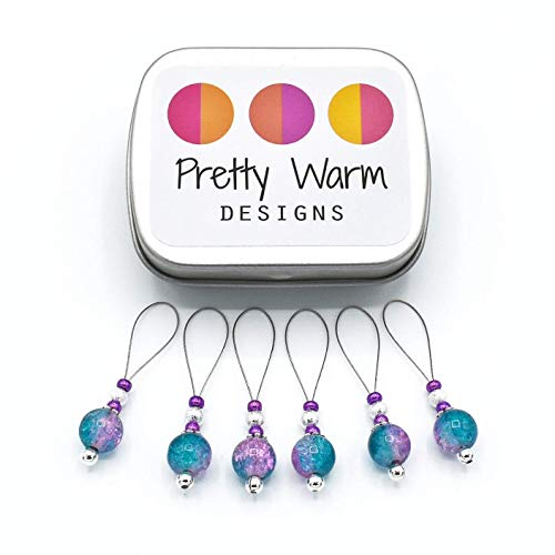 Turquoise & Pink Snag Free Stitch Markers Knitting ()