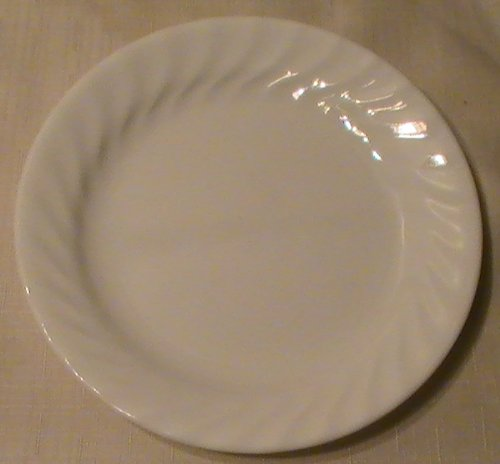 Corning Corelle Enhancement (White Swirl) Salad Plate - One (1) Plate