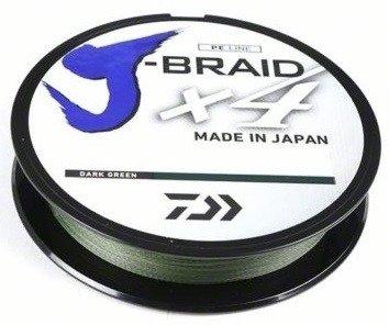 DAIWA J-BRAID WOVEN 4-STRAND FISHING LINE-150-YARD SPOOL DARK GREEN 150YD SPOOL (Green Braid 150 Yard Spool)