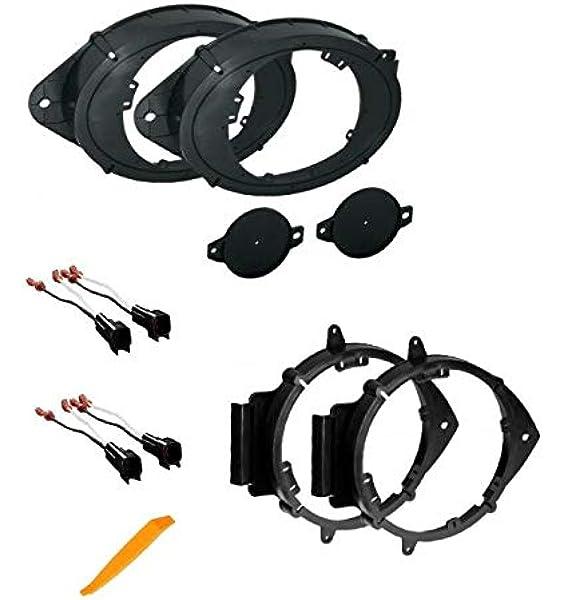 6.5 Car Speakers Front Door Adapters GM656-F 6.5 158mm /& 6.75 165mm Fits Both