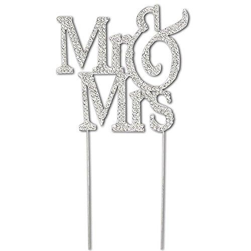 - PuTwo Mr & Mrs Wedding Cake Topper Decoration With Shinning and Sturdy  Rhinestones