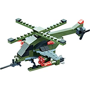 GreenGold Helicopter Blocks 119 Pieces...