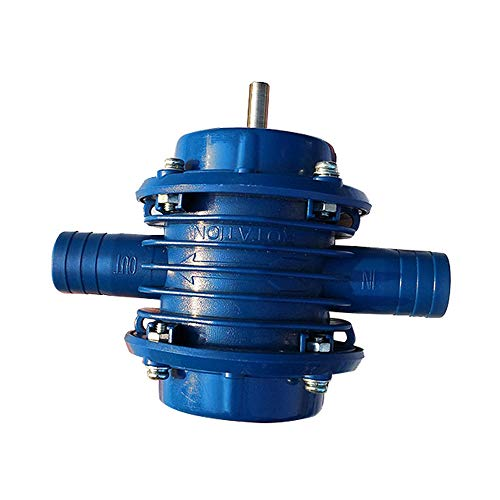 (HankuHousehold Small Pump Self-Priming Hand Drill Water Pumps Garden Courtyard Blue)