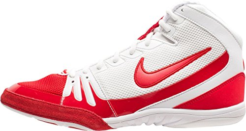 Nike Herren Freek Wrestling Schuhe US) weiß / rot