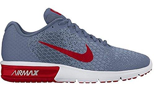 Nike Air Max Mens Sequent 2 Scarpe Da Corsa, Oceano Nebbia / Rosso Università / Blu Squadrone, Noi 12.5