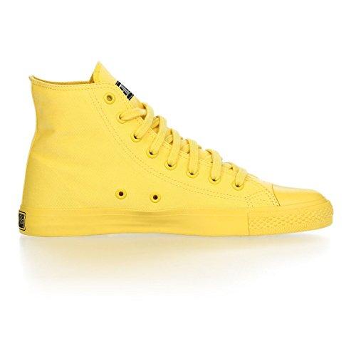 Ethletic Sneaker Monochrom Vegan Hicut - Farbe Yellow Aus Bio-Baumwolle