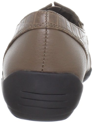 Easy Street Womens Leder Slip-on Taupe / Croco