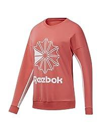 Reebok Classics Women's French Terry Big Logo Crew Sweater