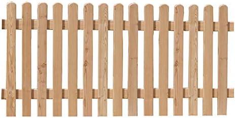 Valla de jardín de madera de alerce 180 x 80 cm: Amazon.es: Jardín