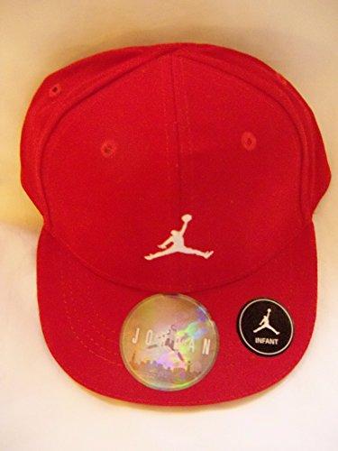 Nike Infants Baseball (Nike Jordan Infant 12/24 Boy's Embroidered Jumpman Logo Fitted Baseball Cap (Red/White))