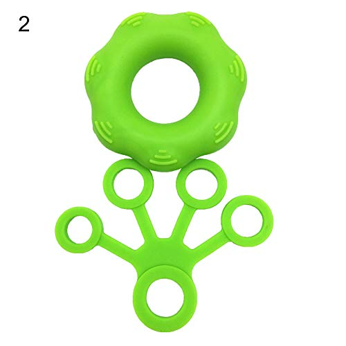 Desconocido ZX101 - Juego de Herramientas para Fortalecer los Dedos de la Mano (Silicona), Color Verde Claro, Verde césped