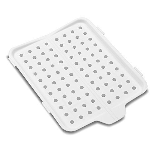 madesmart Fold-Up Drain Board - White   SINKWARE COLLECTION   Fold-Away for Easy Storage   Use for Dish Drying or to Catch Food Prep   Non-slip Base   BPA-Free