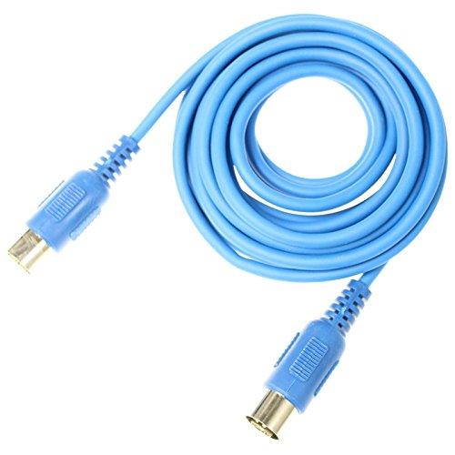 Adam Hall Cables K3MIDI0300BLU 3 Star Serie MIDI-Kabel (3m) blau