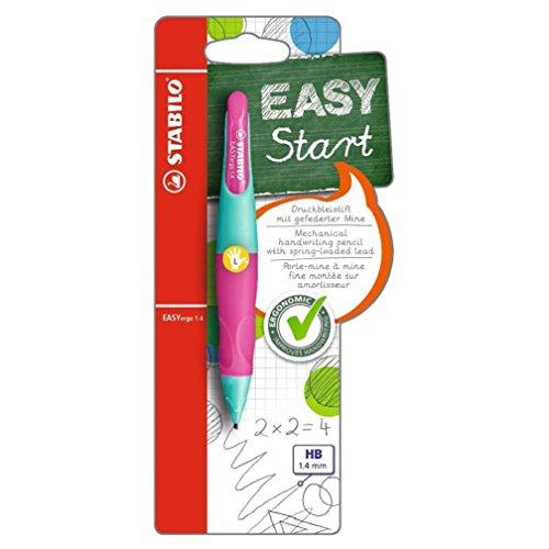 STABILO EASYergo Mechanical Pencil Left Handed, 1.4 mm - Turquoise/Neon Pink (Stabilo Mechanical Pencil)