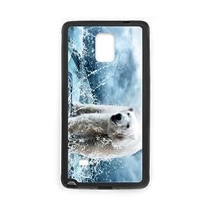 Samsung galaxy note 4 N9100 Polar bear Phone Back Case Personalized Art Print Design Hard Shell Protection HG073430