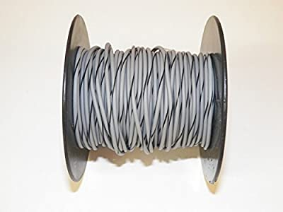Gray/Black Striped 18 GA AWG 100' Spool, For Automotive, Truck, Motorcycle, RV. General Purpose High Quality GXL Copper Wire .94 O.D. Abrasion Resistance, High Heat