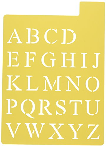 (Darice 121725 Upper Case Alphabet Stencil, 3 Fonts in 1, 1-Inch)