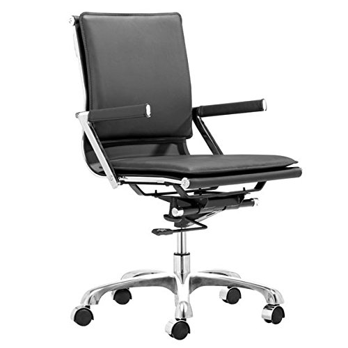 Zuo Lider Plus Office Chair, Black