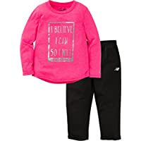 New Balance Baby Girls Long Sleeve Top and Tight Set