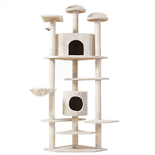 Eight24hours Cat Tree 80'' Condo Furniture Scratching Post Pet Cat Kitten House + FREE E-Book by Eight24hours