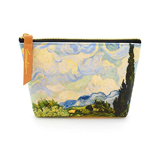 Vincent van Gogh Carry all Pouch Coin Pouches Canvas bag Wheat Field with Cypresses