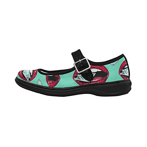 Interestprint Womens Komfort Mary Jane Lägenheter Tillfälliga Promenadskor Multi 3