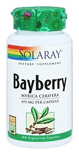 Solaray - Bayberry, 475 mg, 100 capsules by - 475 Mg 100 Capsules