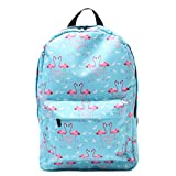 Teen Girl Flamingo Print Casual Backpack