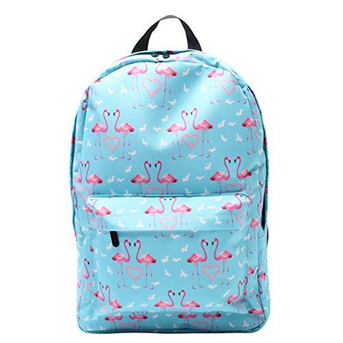 Teen Girl Flamingo Print Casual Backpack by Boygirl