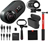 Rylo 5.8K 360 Degree Video Camera Black, (iPhone +Android) Bundle Kit Dual Battery Charger, 16GB SD Card, Everyday Case, Adventure Case, Invisible Selfie Stick