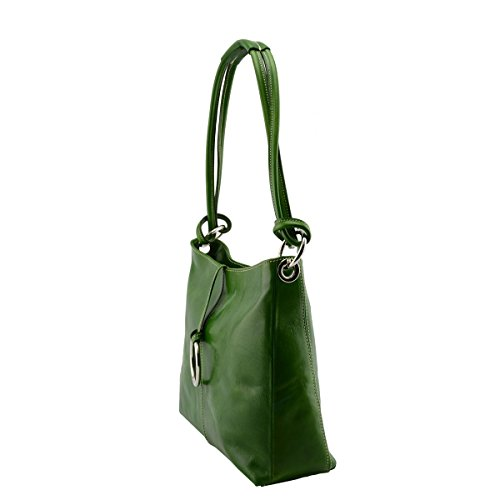 Verde A Vera Donna Pelle Toscana Borsa Pelletteria Spalla Italy Colore In Made aqTgOY